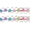 Bow Beads (Farfalle) 3.2x6.5mm Multi Crystal Luster Dyed
